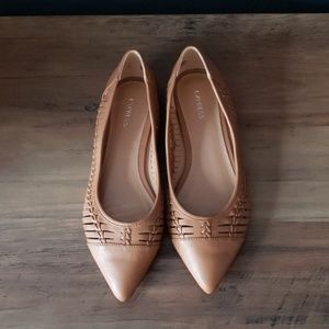 Express Camel Braided Flats
